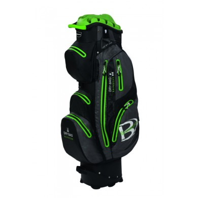 Bennington Cart Bag QO 14  Waterproof Black/Grey/Lime