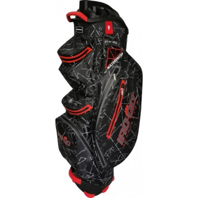 Bennington Cart Bag IRO QO 14  Waterproof Black Flash / Red