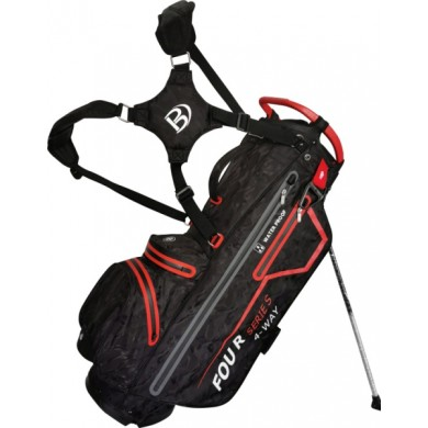 Bennington Stand bag FOUR 4 Waterproof Black Camo / Red
