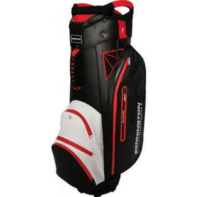 Bennington Cart Bag DOJO 14 Water Resistant Black / White / Red