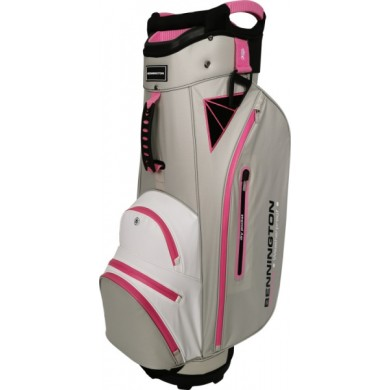 Bennington Cart Bag DOJO 14 Water Resistant Grey / White / Pink