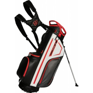 Bennington Stand bag TANTO 14 Water Resistant Black / White / Red